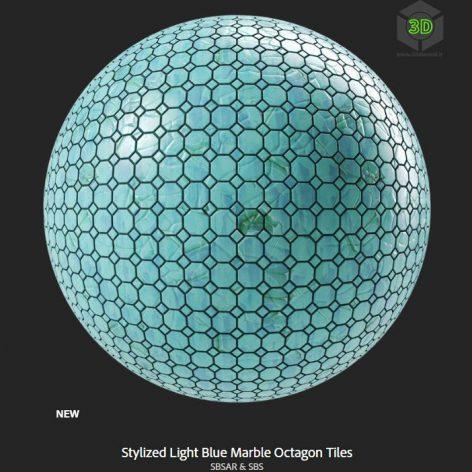 stylized_light_blue_marble_octagon_tiles (3ddanlod.ir)
