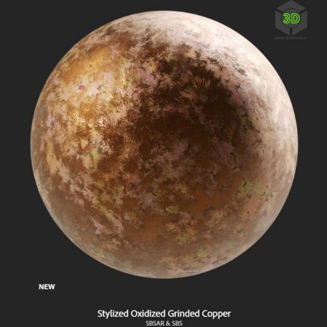 stylized_oxidized_grinded_copper (3ddanlod.ir)