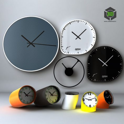 A Selection of Designer Watches Clock Set(3ddanlod.ir)877