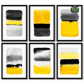 A Sries of Posters With Abstract Painting(3ddanlod.ir)1008