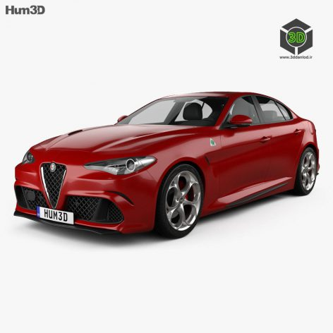 Alfa Romeo Giulia Quadrifoglio 2016 - 3D Model 085 (3ddanlod.ir)