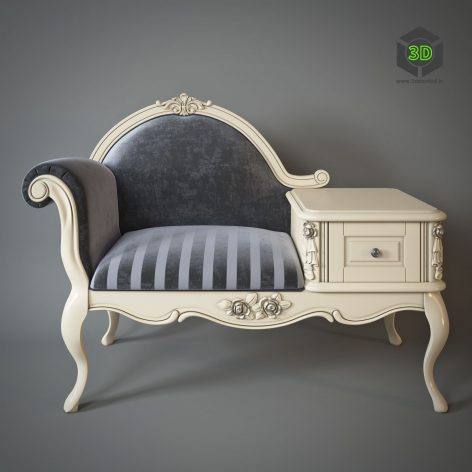 Armchair With Telephone Table Milano 8802(3ddanlod.ir)981