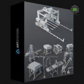 Artstation - Cranes - 11 pieces by Armen Manukyan cover (3ddanlod.ir) 052