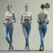 Artstation - Girl in Jeans Posing Casual (3ddanlod.ir) 041