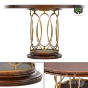 Avalon Heights Neo Deco Pedestal Table(3ddanlod.ir)183