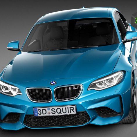 BMW M2 Coupe 2016 071 (3ddanlod.ir)