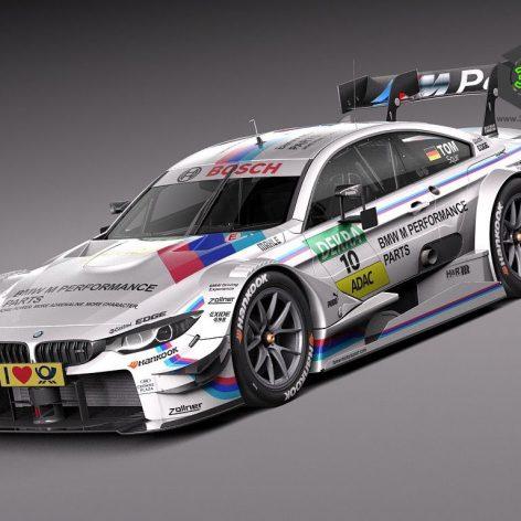 BMW M4 DTM 2015 Race Car - 3D Model 065 (3ddanlod.ir)