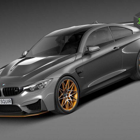BMW M4 GTS 2016 - 3D Model 100 (3ddanlod.ir)