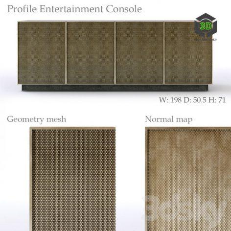 Bernhardt Profile Entertainment Console(3ddanlod.ir)484