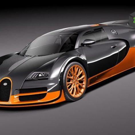 Bugatti Veyron Super Sport 2012 - 3D Model 186 (3ddanlod.ir)