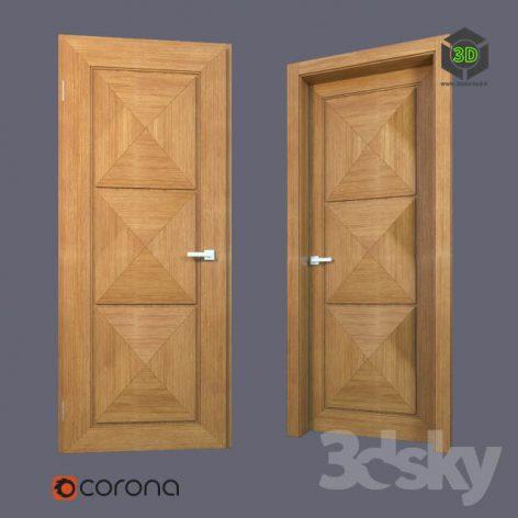 Wooden door (3ddanlod.ir)
