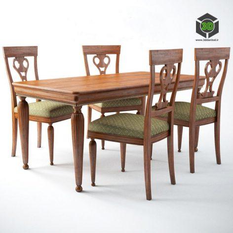 table_chair_5185_5186 -ModeneseGastone (3ddanlod.ir)