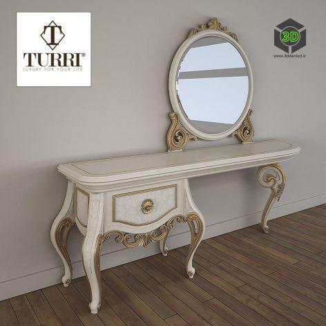 Dressing Table Turri Baroque TC153L(3ddanlod.ir)1177