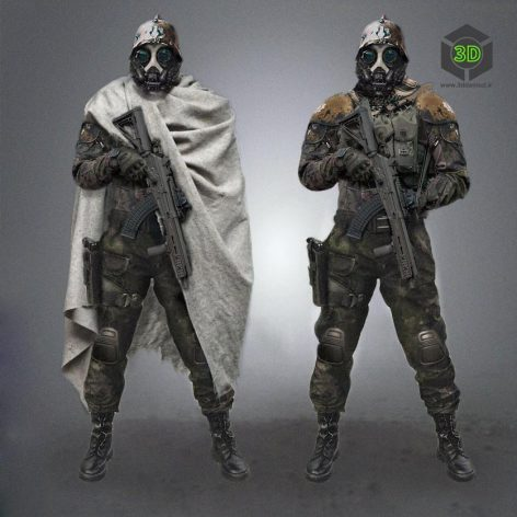Dystopian Foot Soldier (3ddanlod.ir)