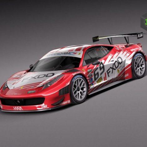 Ferrari 458 GT3 Race Car 2014 038 (3ddanlod.ir)