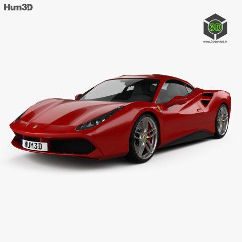 Ferrari 488 GTB - 3D Model 054 (3ddanlod.ir)