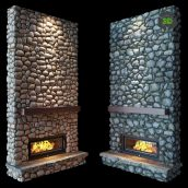 Fireplace Stone(3ddanlod.ir)923