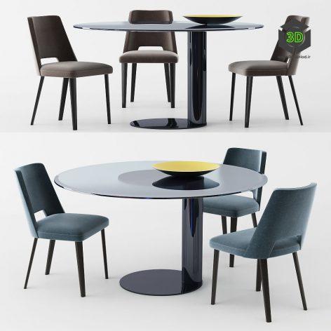 Gallotti Radice Table and Chair Oto Thea(3ddanlod.ir)904