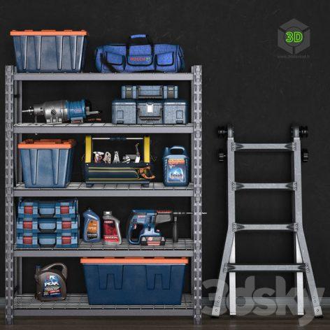 Garage Tools Set 14(3ddanlod.ir)777