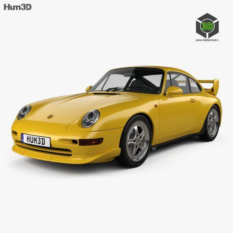 Hum3d - Porsche 911 Carrera RS Clubsport (993) 1995 3D model (3ddanlod.ir) 133