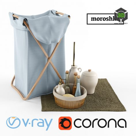 Laundry Basket and Accessories(3ddanlod.ir)1086
