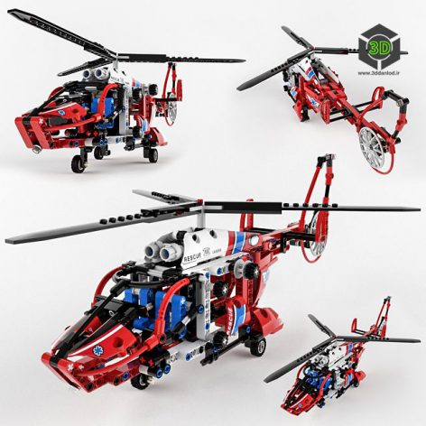 Lego Technic Rescue Helicopter(3ddanlod.ir)110