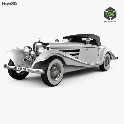 Mercedes-Benz 500K Special Roadster 1936 3D model (3ddanlod.ir) 110