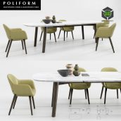 Poliform Mad Dining Chair And Table(3ddanlod.ir)1003