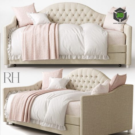 RH REESE TUFTED DAYBED WITH TRUNDLE(3ddanlod.ir)1040