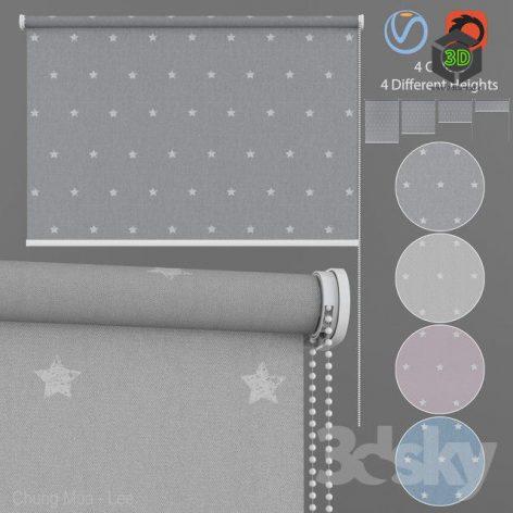 Roller Blind Stars in Four Colors Set 1(3ddanlod.ir)614