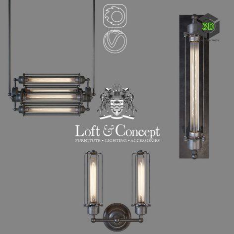 Series Loft Industrial Edison Cage(3ddanlod.ir)1065