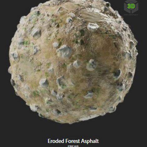 eroded_forest_asphalt (3ddanlod.ir)