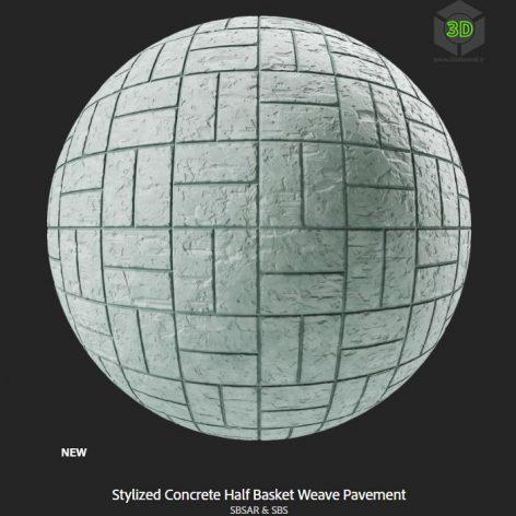 stylized_concrete_half_basket_weave_pavement (3ddanlod.ir)