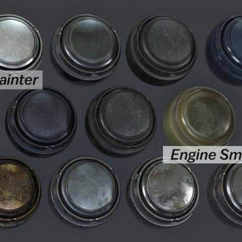 Artstation-13-Substance-Painter-Engine-Metal-Automotive-Smart-Materials (3ddanlod.ir)
