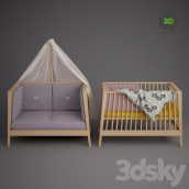Baby Cot Linea by Leander(3ddanlod.ir) 236