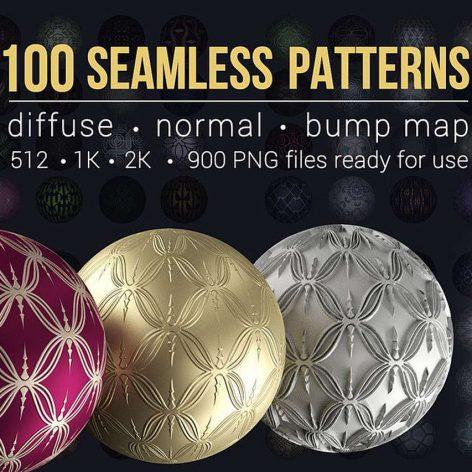 Cubebrush – 100 Seamless Patterns 002 (3ddanlod.ir)