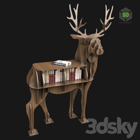 DeerBookshelf (3ddanlod.ir)