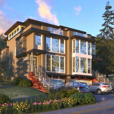 Residential House Exterior Scene 19(3ddanlod.ir)