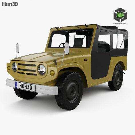 Suzuki Jimny 1970 3D model (3ddanlod.ir) 143
