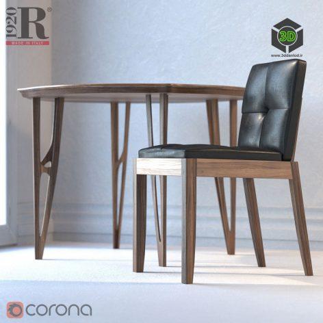 Vegan Table Bever Sedia Chair Riva 1920(3ddanlod.ir)1142