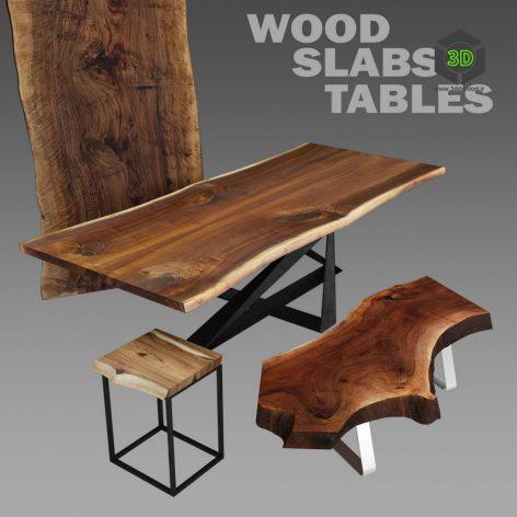 Wood Slabs Tables 1(3ddanlod.ir)1182