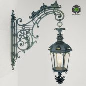 Wrought Iron Wall Lamp(3ddanlod.ir)874