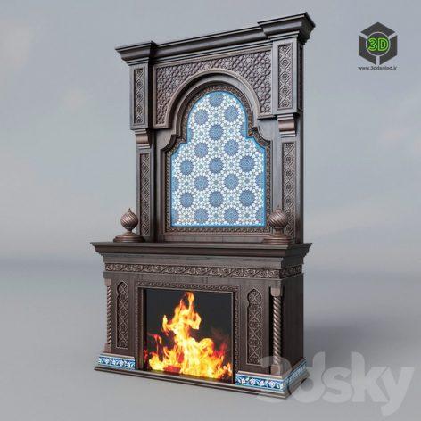 classic fireplace (3ddanlod.ir)