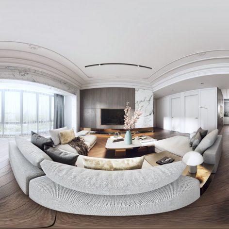 360 Interior Design 2019 Dining Room B03 panorama (3ddanlod.ir) 014