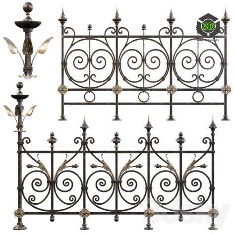 Amb_Wrought iron fences 325 (3ddanlod.ir)