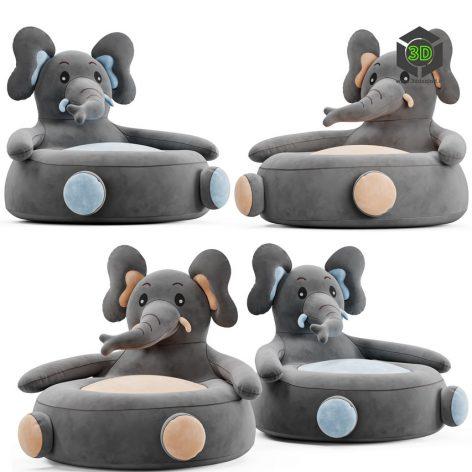 Elephant Kids Chair(3ddanlod.ir) 983