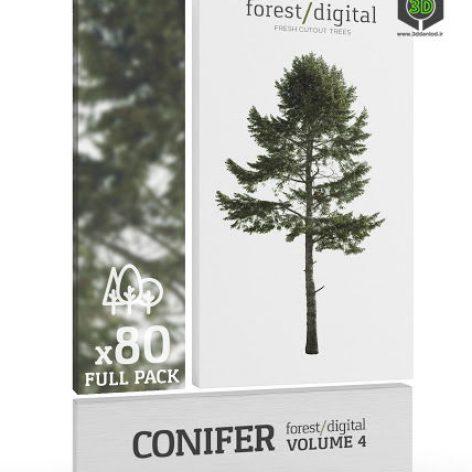 ForestDigital vol. 4 - Conifer trees cover(3ddanlod.ir)