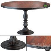 French Soda Fountain Old Wood Dining Table(3ddanlod.ir) 127