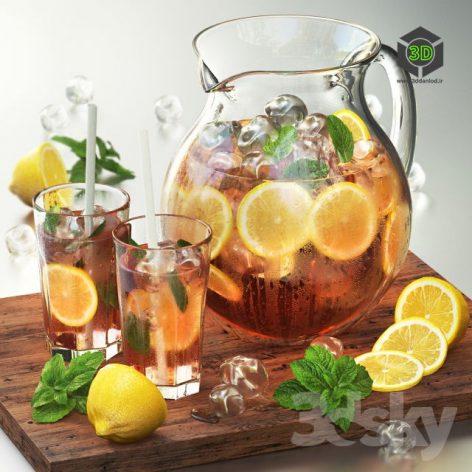 Iced Tea With Lemon(3ddanlod.ir) 848