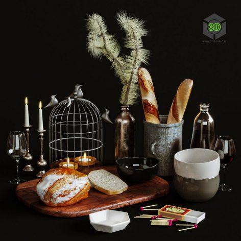 Kitchen Decorative Set 037(3ddanlod.ir) 859